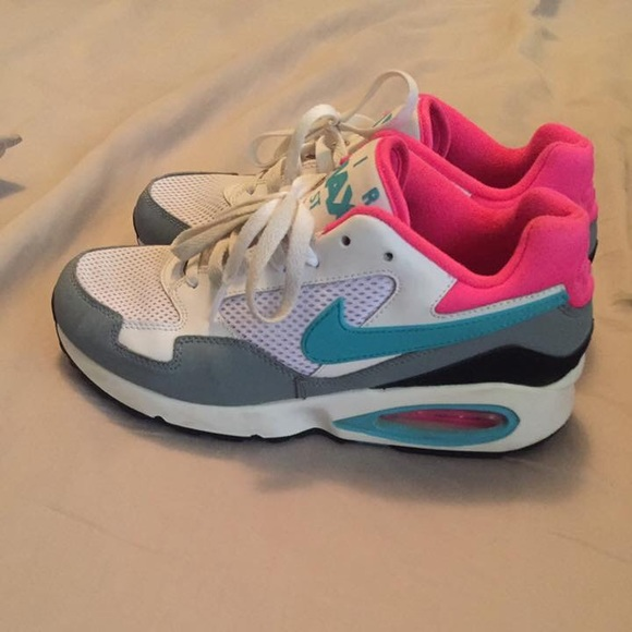 Nike air max men's 7 pink white teal